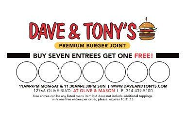 Dave and Tony's Loyalty Card