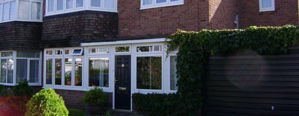 House extension with all round windows