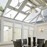 Inside a house's conservatory