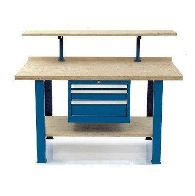 scrivania in legno e metallo