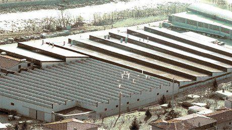 un impianto industriale visto dall'alto
