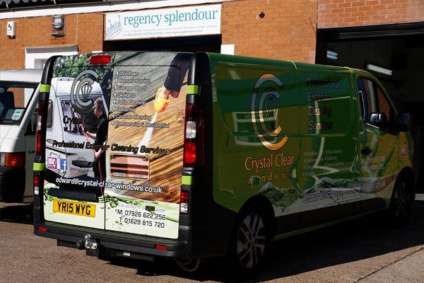 rear view of the van