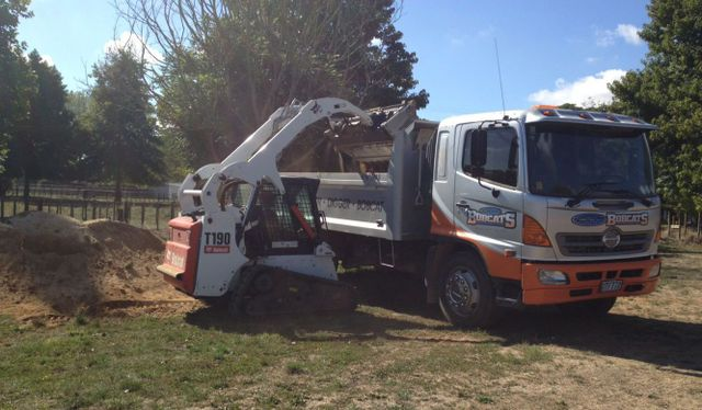 Work being done by excavation contractors in Waikato