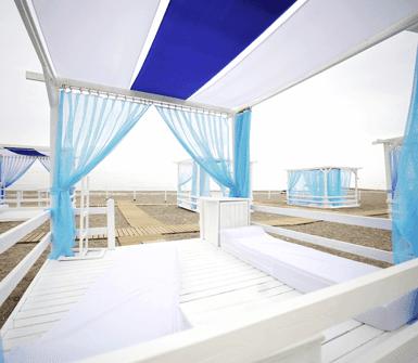 gazebo per spiaggia
