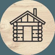 icona casa in legno