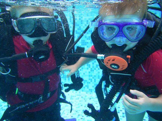 scuba diving  la grange du moulin child friendly gites