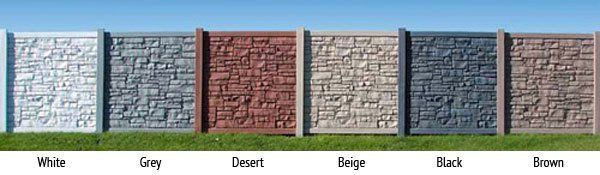 ecostone fences are available in designer colors to complement your home and landscape