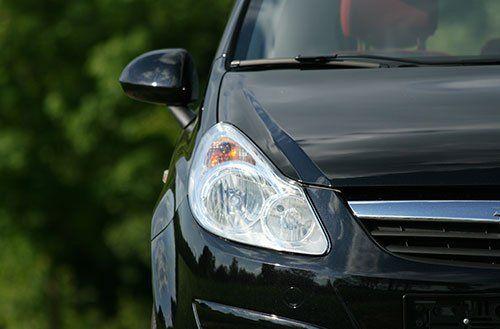 Black car front view