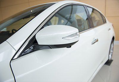 Side rear view mirror on a modern car