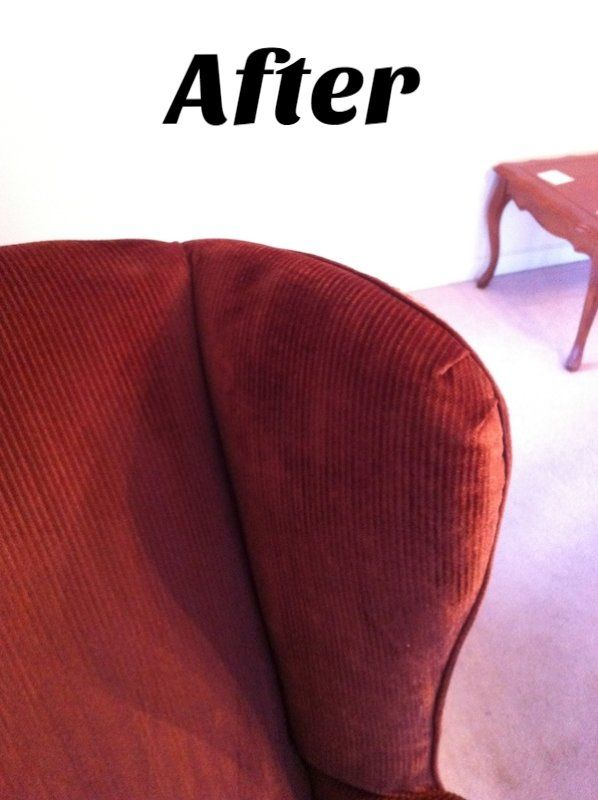 Clean upholstery after cleaning