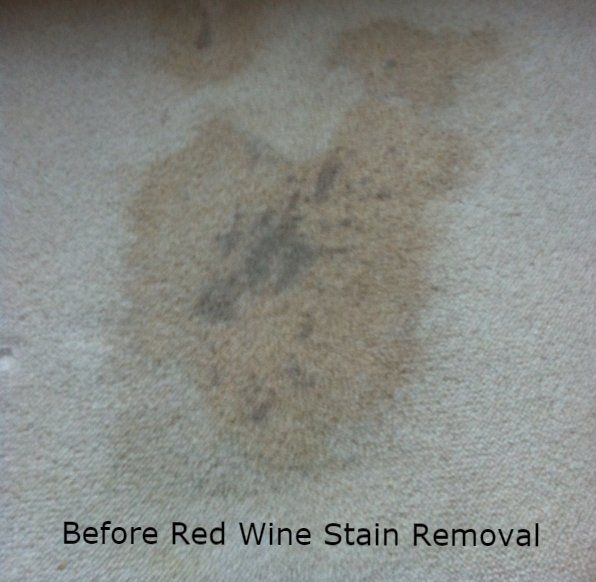 Before Red Wine Stain Removal