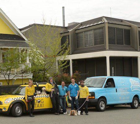 Dog Taxi employees alongside Brisas Employees