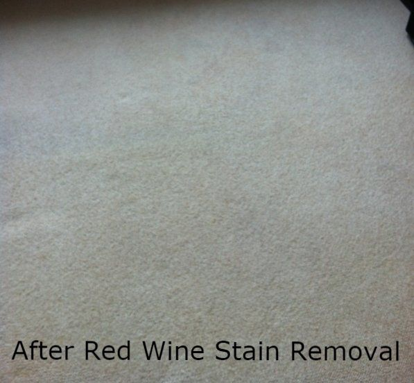 After Red Wine Stain Removal