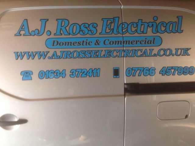 AJ Ross Electrical van