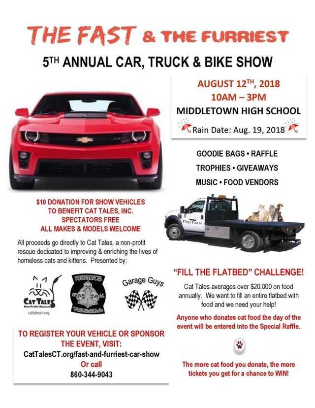 5th Annual Car, Truck And Bike Show In Middletown, CT