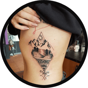 Tattoo above the waist