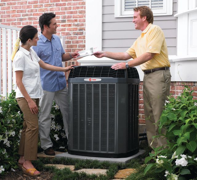 Team member providing heating and cooling services in Staunton, VA