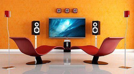 A modern home theatre system