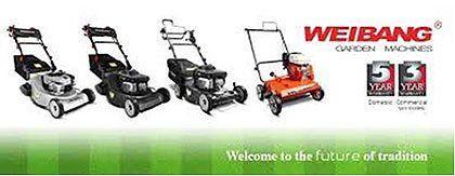 A range of Weibang petrol mowers