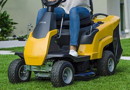 A ride on mower