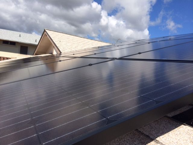 Solar installation on a clients roof