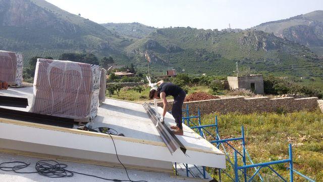 Rifacimento di un tetto a Palermo