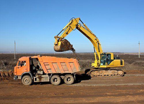 Excavation work in Kerrville, Texas