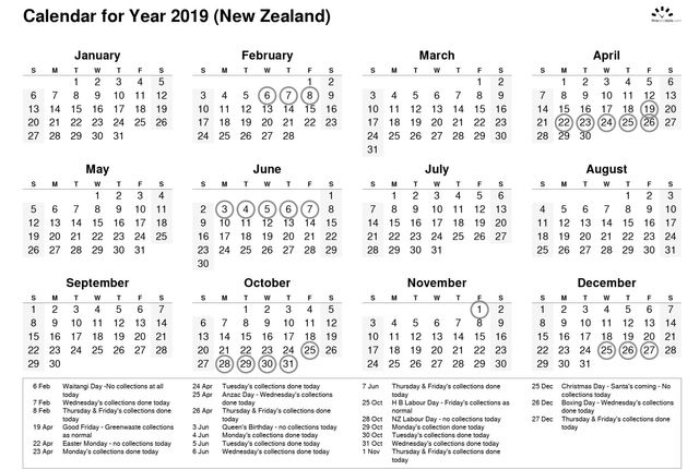 Calendar | Bay Environmental Bins