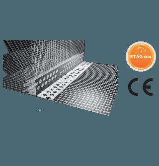 Paraspigolo forato in PVC flessibile con rete