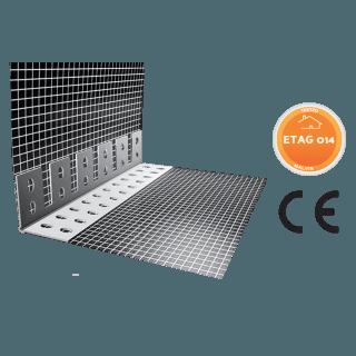 Profilo in PVC con rete per archi