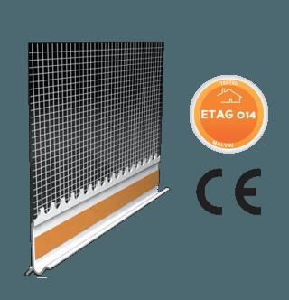 Profilo di rinforzo in PVC adesivo con rete