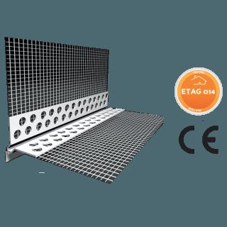Gocciolatoio forato in PVC a vista a 2 scalini con rete