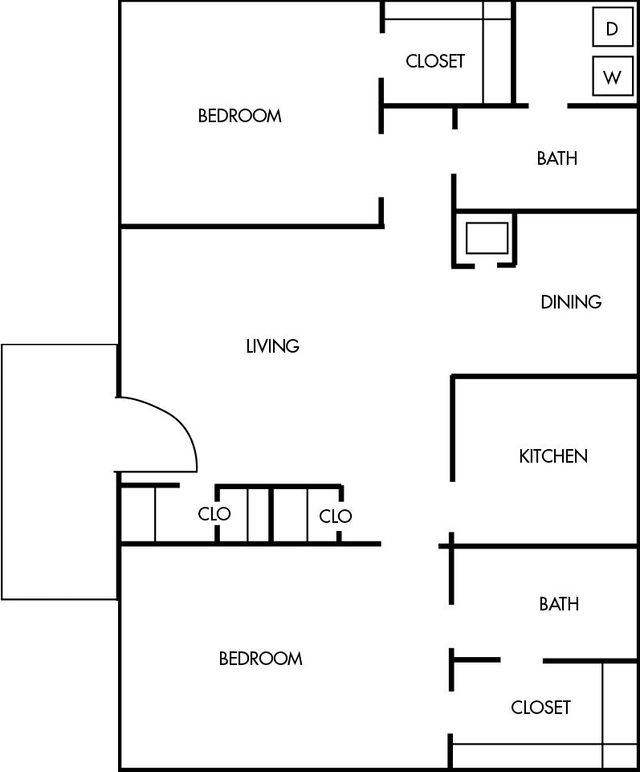 Amherst Floor Plans 2 bed 2 bath 817 square feet