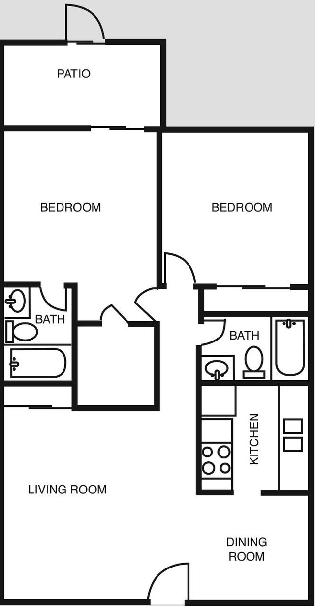 Amherst Floor Plans 2 bed 2 bath 840 sq ft Houston