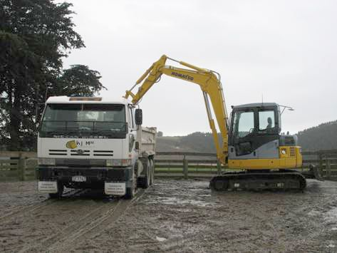 One of our excavators in Otago