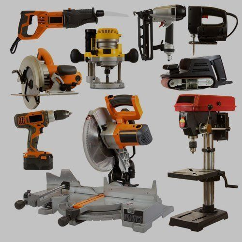 a selection of assorted power tools