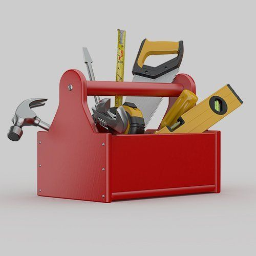 A selection of handheld tools