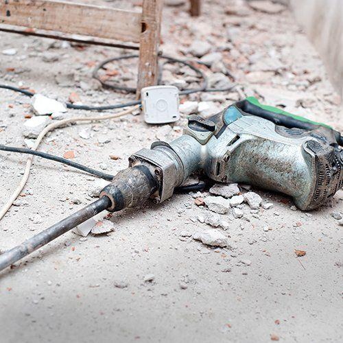Handheld concrete breaker