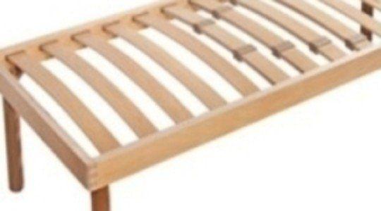 Rete di legno chiaro con ammortizzatori