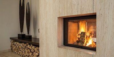 Elegante modello di stufa a legna