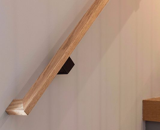 Modern residential architecture. Railing Detail