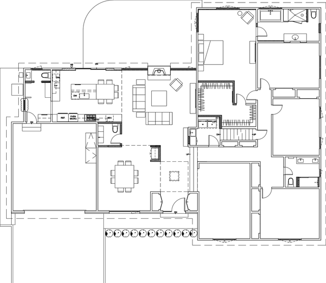 Proposed First Level Plan The living spaces are opened up to create a loft like feel and integrate  different functions in a more casual way.
