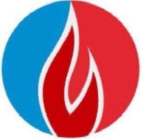 fiamme colorate in un logo
