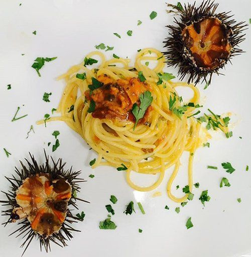 spaghetti con ricci di mare