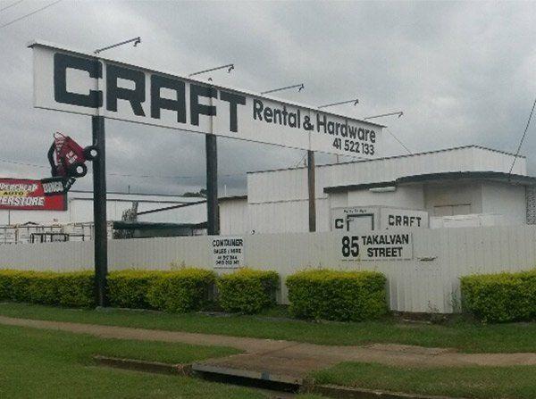 Equipment hire | Bundaberg | Craft Rental & Hardware