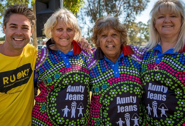 Group of RUOK and Aunty Jeans Supporters