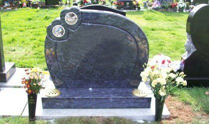 grey marble grave stone