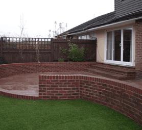 patio  brickwork