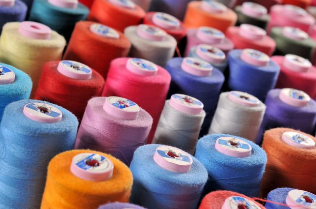 spools of thread, textile supplies in Auckland