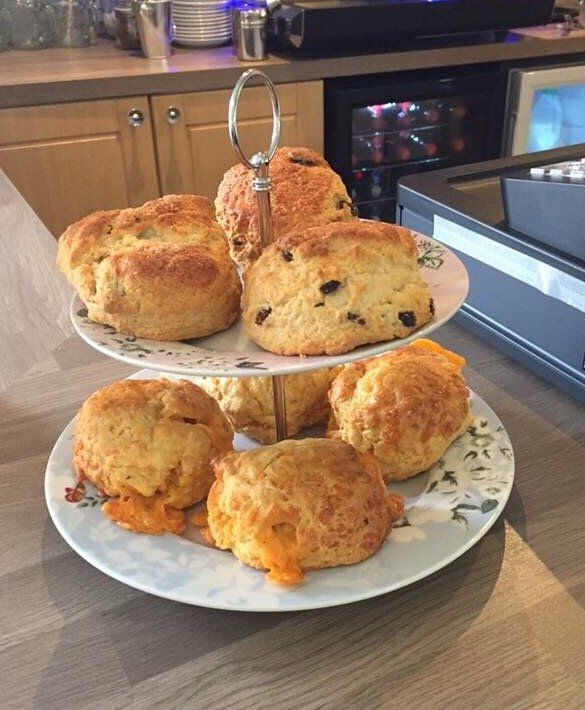 delicious cheese and fruit scones